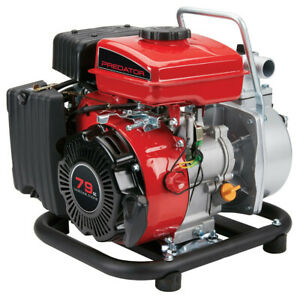 1 In 79cc Gasoline Engine Clear Water Pump 35 Gpm Draining Pools Irrigation