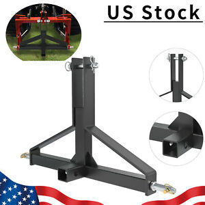 3 Point Receiver Hitch Trailer Cat 1 Tractor Drawbar Fit Quick Hitch Imatch