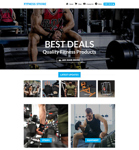 Profitable Fitness Store Turnkey Dropship Website Business For Sale