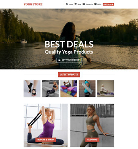 Profitable Yoga Store Turnkey Dropship Website Business For Sale