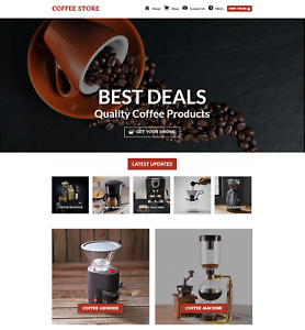 Profitable Coffee Store Turnkey Dropship Website Business For Sale