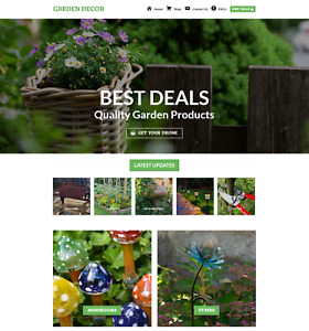 Profitable Garden Decor Turnkey Dropship Website Business For Sale