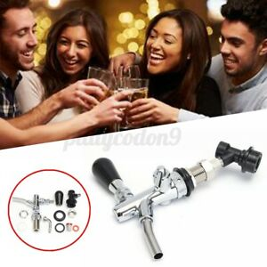 G5 8 Draft Beer Faucet Dispenser W Flow Controller Chrome Plating Shank Tap Kit