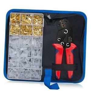 Wire Terminals Crimping Tool Kit Preciva Awg22 16 Self adjusting Automatic Ratc