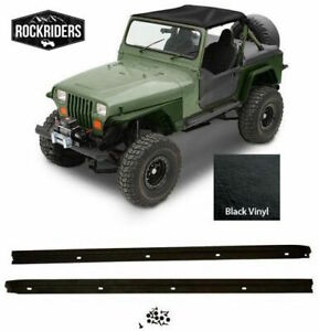 Summer Bikini Top Black And Windshield Channel For 1987 1991 Jeep Wrangler Yj