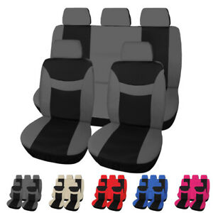 Stretchy Cloth Auto Car Seat Cover Set Backrest Front Rear Protector Accessories
