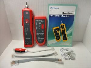 Lan Network Cable Tracker Tracer Tester Phone Rj45 Rj11 Cat 5 5e 6 Wire Scan Kit