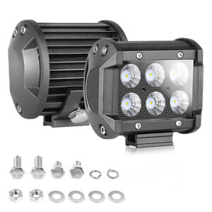 2x4 inch 120w Cube Led Work Light Bar Flood Pods Off Road Fog Lights Pickup Atv