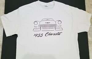Brand New 1955 Chevy T Shirt Chevrolet 55 Tri Five 56 57 Hot Rod Custom Sketch