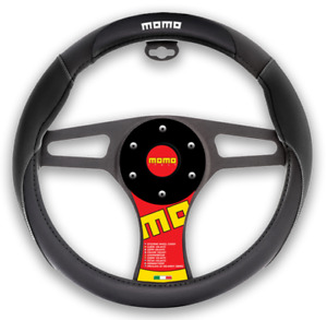 New Momo Black Car Steering Wheel Cover Size M 14 5 15 5