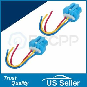 2pcs 9007 9004 Female Wire Connector Wiring Harness Pigtail Turn Lamp Socket