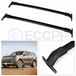 Top Roof Rack Cross Bars Luggage Carrier For 2018 Ford Expedition Black Aluminum