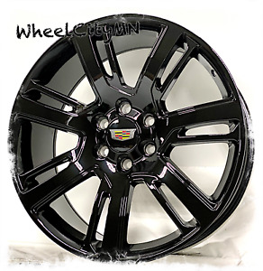 22 Inch Gloss Black 2016 Cadillac Escalade Oe Replica 4738 Replica Wheels 6x5 5