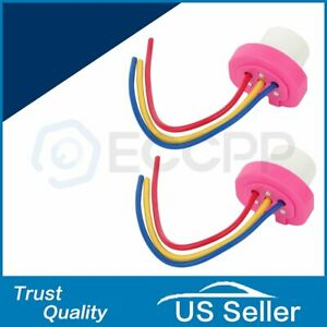 2x 9004 9007 Female Clearance Wire Harness Extension Socket Adapter Widely Used