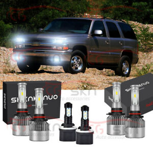 6x Combo 9005 9006 Led Headlight 880 Fog Light Bulb For Chevy Tahoe 2001 2006