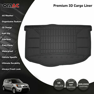 Omac Premium Bottom Cargo Trunk Liner Black Fits Kia Soul 2010 2013