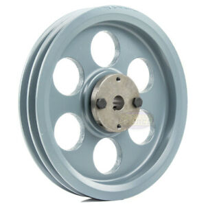 Cast Iron 8 25 2 Groove Dual Belt A Section 4l Pulley With 3 4 Sheave Bushing