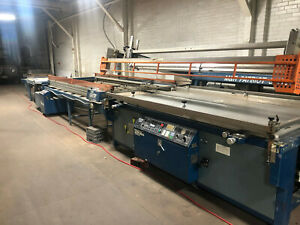 Silk Screen Printing Press Take Off Systems And Vitran Dryer Large Format