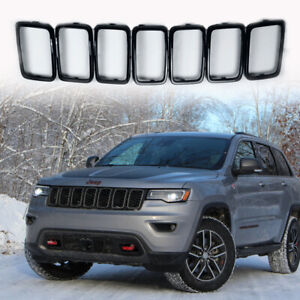 Black Front Grill Ring Grille Inserts For Jeep Grand Cherokee 2017 2020 Cover