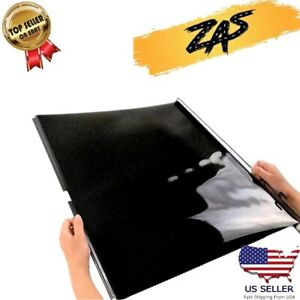 2pc Retractable Car Window Roller Sun Shade Blind Protector Tint Paper 5 Smoke