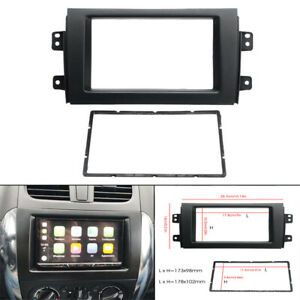 For 2007 13 Suzuki Sx4 Double Din Stereo Radio Plate Frame Panel Trim Dash Kit