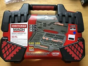 Craftsman Mach Series 83 Piece Ratcheting Tool Set W Carrying Case