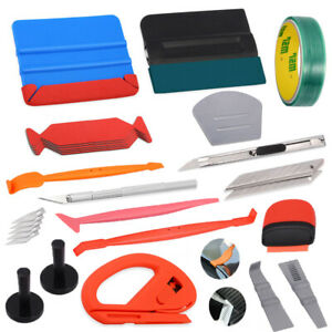 Pro Car Window Tint Install Kit Vinyl Wrapping Avery Squeegee Magnets Glove Set