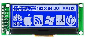 2 Inch Blue 192x64 Graphic Lcd Display Module uc1609 spi For Arduino