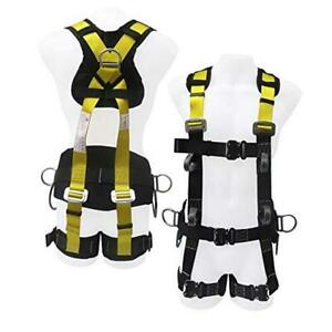 Commando Fall Protect Full body Safety Harness With Lanyard ansi And Osha Compl