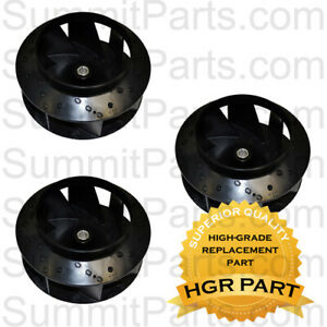 3pk Superior Quality Blower Fan For 30lb Huebsch Sq Ipso Dryer 70359801p