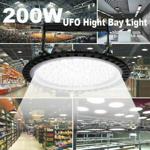 200w Watt Led High Bay Lights 16000lm Warehouse Led Shop Lighting Fixture Ufo