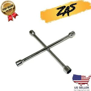 14 Heavy Duty Universal Lug Wrench 4 Way Cross Wrench Corrosion Resistant