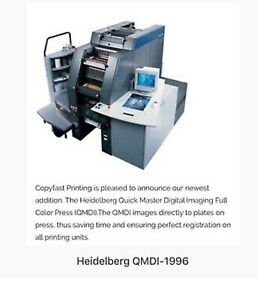 Printing Press 2001 Heidelberg Qmdi 46 4 Color come With Second Parts Press