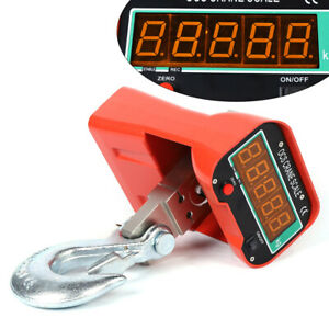 3000kg 6600lbs Crane Scale Industrial Hook Hanging Weight Digital Lcd Display Us