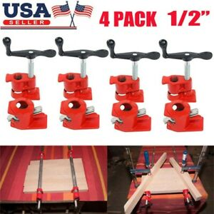 Profesional 1 2 4 Pack Wood Gluing Pipe Clamp Kit Woodworking Cast Iron Set Us