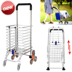 Helping Hand Folding Shopping Cart Laundry Travel W Wheels Waterproof Bag Us