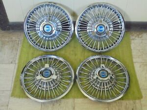 65 66 Ford Wire Spoke Hub Caps 14 Set Of 4 Wheel Covers 1965 1966