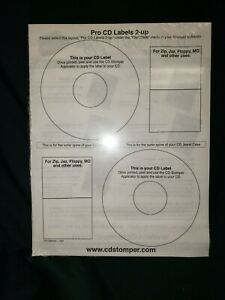 Cd Stomper Pro Label Package With 50 Cd Labels And 10 Jewel Case Inserts