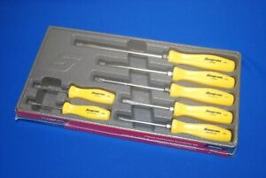 New Snap On Tools 7 Piece Combination Screwdriver Set Yellow Sddx70ay