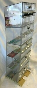 Stacking Lockable Clear Plastic Display Cases 1 Bases 4 Stacking Units W key