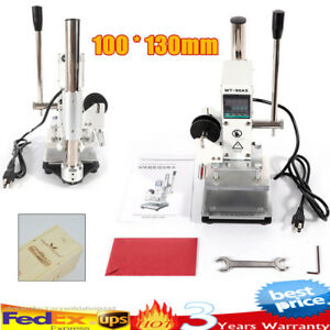 Manual Digital Hot Foil Stamping Machine Leather Pvc Embossing Bronzing Newest