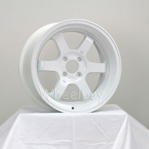 4 Pcs Rota Wheel Grid V 16x8 4x100 0 White Civic Integra Corolla Last Set