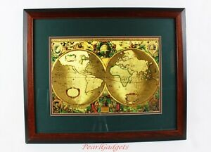 Nova Totivs Terrarvm Orbis Geographica Tabvla Gold Foiled World Map 18 X 23