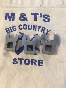 Bonney Tools Usa 3 8 Drive 3 Piece Crowfoot Wrench Set Tc14s Tc18s Tc20s