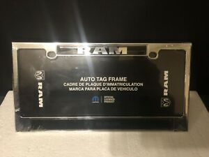 Chrome Black Dodge Ram Metal License Plate Frame By Chroma 6421