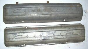 265 283 Chevrolet Script Valve Covers Staggered Bolt Pattern 1955 1956 1957