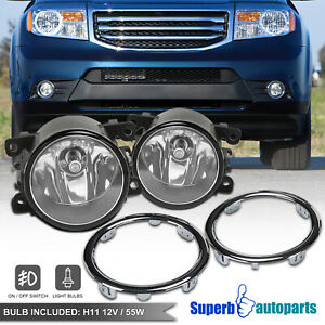 For 2012 2015 Honda Pilot Ex Bumper Fog Lights W Switch Covers
