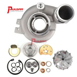 Upgrade Compressor Housing And 67mm Billet Wheel For 04 5 07 He351cw Turbo 5 9l