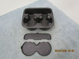 00 02 Chevy Trucks Tahoe Yukon Center Console Cupholder Tray W Inserts Clean