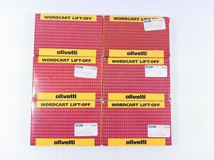 Lot Of 6 Olivetti Wordcart Lift off Correctable Ribbon 80673 W New made In Usa